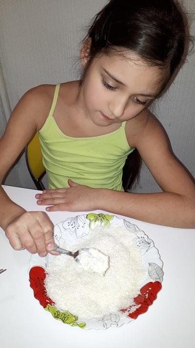 Конфеты из детской смеси Малютка и пломбира